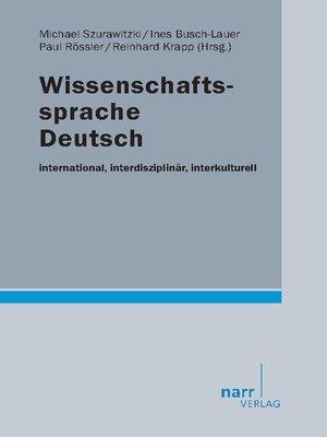 cover image of Wissenschaftssprache Deutsch