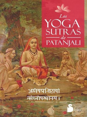 cover image of Los yoga sutras de Patanjali