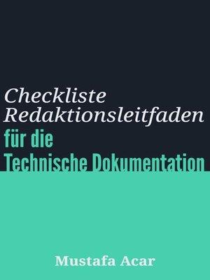 cover image of Checkliste Redaktionsleitfaden
