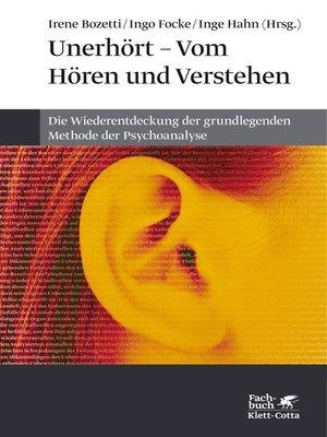 cover image of Unerhört--Vom Hören und Verstehen