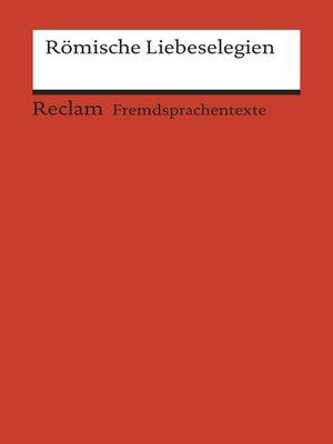 cover image of Römische Liebeselegien