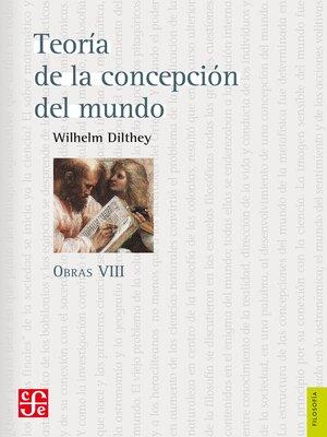 cover image of Obras VIII. Teoría de la concepción del mundo