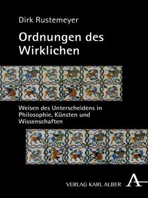 cover image of Ordnungen des Wirklichen