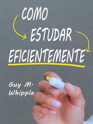 cover image of Como Estudar Eficientemente