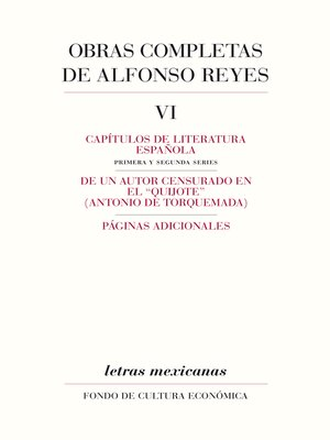 cover image of Obras completas, VI
