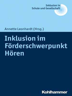 cover image of Inklusion im Förderschwerpunkt Hören