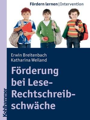 cover image of Förderung bei Lese-Rechtschreibschwäche