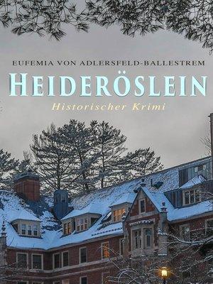 cover image of Heideröslein (Historischer Krimi)