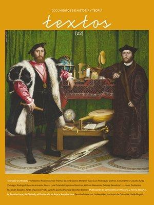cover image of Textos 23. Documentos de historia y teoría
