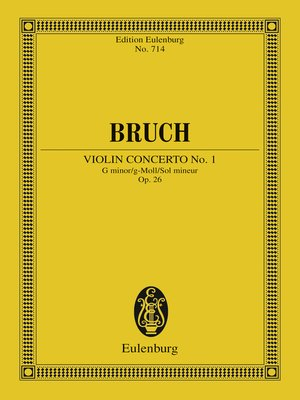 cover image of Violin Concerto No. 1 G minor
