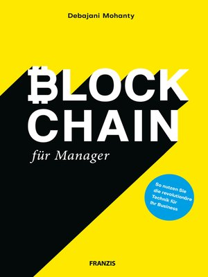 cover image of Blockchain für Manager