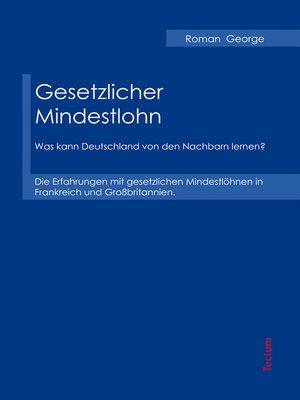 cover image of Gesetzlicher Mindestlohn
