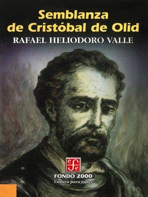 cover image of Semblanza de Cristóbal de Olid