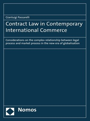 cover image of Contract Law in Contemporary International Commerce