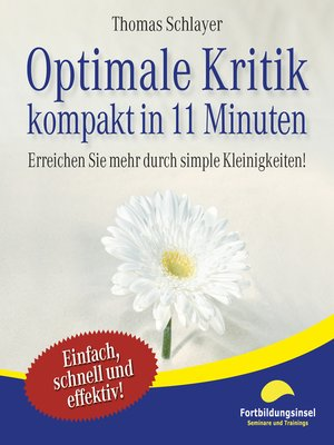 cover image of Optimale Kritik--kompakt in 11 Minuten