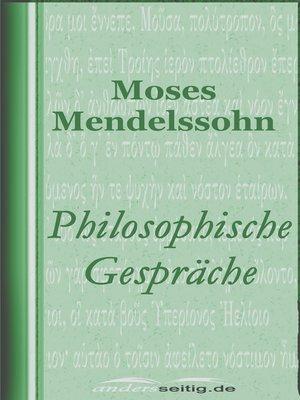 cover image of Philosophische Gespräche