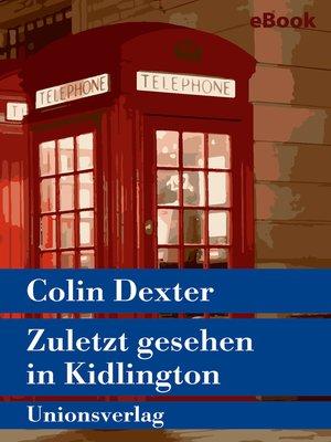 cover image of Zuletzt gesehen in Kidlington