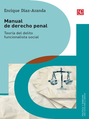 cover image of Manual de derecho penal