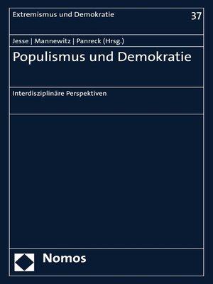 cover image of Populismus und Demokratie