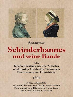cover image of Schinderhannes und seine Bande