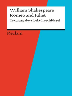 cover image of Textausgabe + Lektüreschlüssel. William Shakespeare