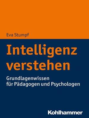 cover image of Intelligenz verstehen