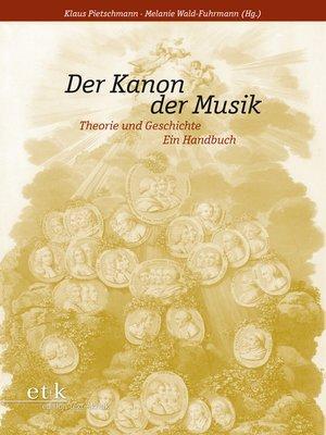 cover image of Der Kanon der Musik