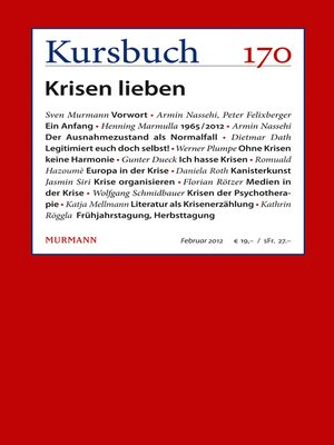 cover image of Kursbuch 170