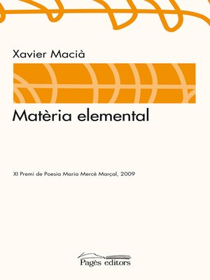 cover image of Matèria elemental