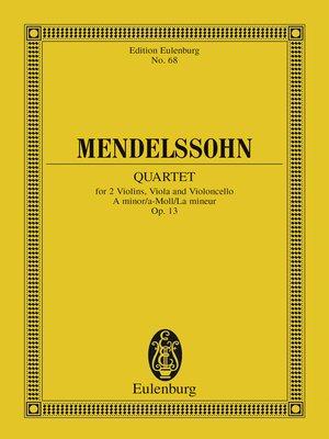 cover image of String Quartet a minor