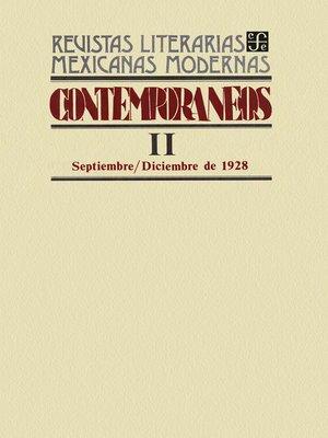 cover image of Contemporáneos II, septiembre–diciembre de 1928