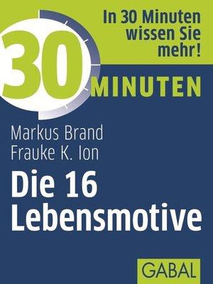 cover image of 30 Minuten Die 16 Lebensmotive