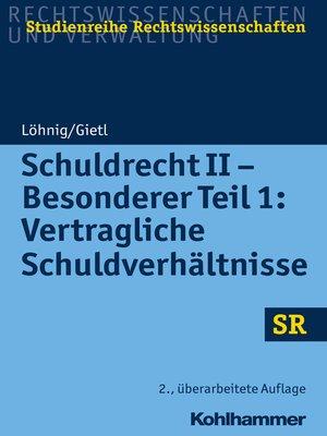 cover image of Schuldrecht II--Besonderer Teil 1