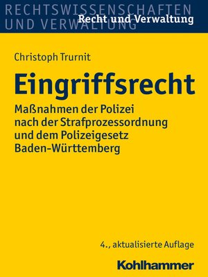 cover image of Eingriffsrecht