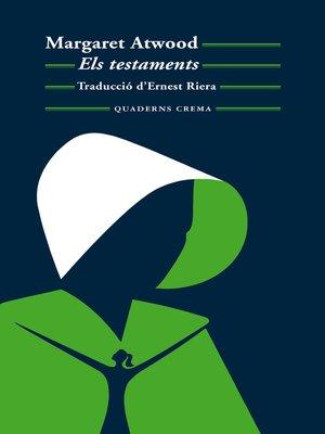 cover image of Els testaments