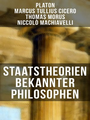 cover image of Staatstheorien bekannter Philosophen