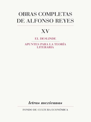 cover image of Obras completas, XV
