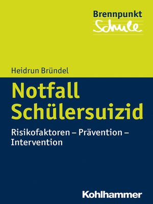 cover image of Notfall Schülersuizid