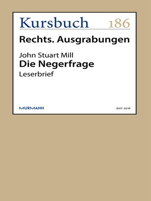 cover image of Die Negerfrage