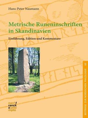 cover image of Metrische Runeninschriften in Skandinavien