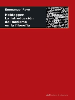 cover image of Heidegger. La introducción del nazismo en filosofía