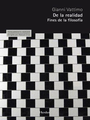 cover image of De la realidad