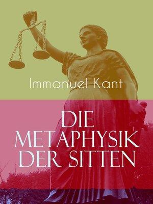 cover image of Die Metaphysik der Sitten