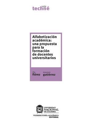 cover image of Alfabetización académica