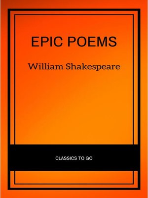 cover image of Epic Poems