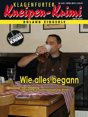 cover image of Wie alles begann