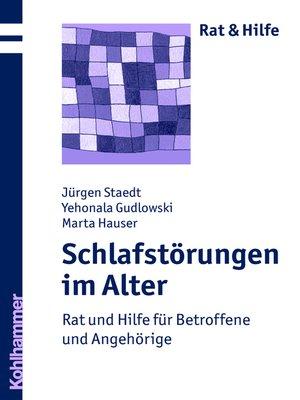 cover image of Schlafstörungen im Alter