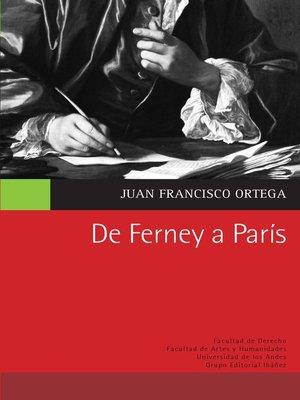 cover image of De Ferney a París