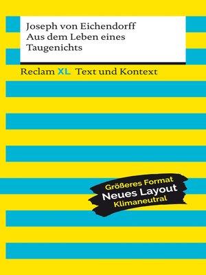 cover image of Aus dem Leben eines Taugenichts