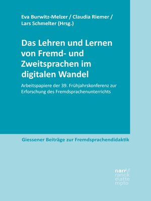 cover image of Das Lehren und Lernen von Fremd- und Zweitsprachen im digitalen Wandel
